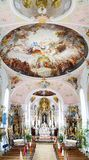 Church of St Peter and St Paul in Oberammergau. Stock Photography