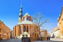 Church of St. Peter St. Peter`s Church, Petrikirche is one of royalty free stock photography