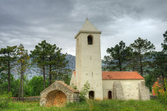 Church of St. Peter, Starigrad - Paklenica, Croati stock photo