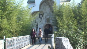 Church of St. Petka in Rupite, Bulgaria stock footage