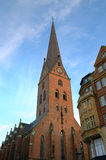Church St. Petri in Hamburg Stock Photo