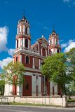 Church of St. Philip and St. Jacob in Vilnius, Lithuania. Stock Photos
