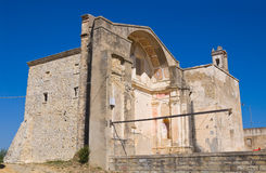 Church of St. Pietro. Craco. Basilicata. Italy. Stock Image