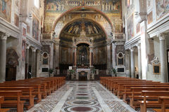 Church of St. Praxedes in Rome stock images