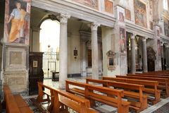 Church of St. Praxedes in Rome Royalty Free Stock Image