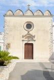 Church of St. Quirico at Cisternino on Puglia Stock Image