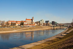 Church of St Raphael the Archangel over the river Neris in Vilnius Royalty Free Stock Photo
