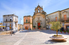 Church of St. Rocco. Montescaglioso. Basilicata. Italy. Royalty Free Stock Image
