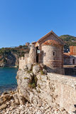 Church of St Sabbas the Sanctified (12 c.) in Budva, Montenegro Stock Photography