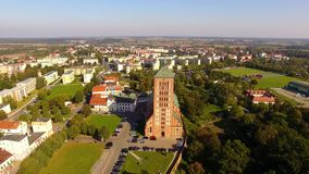 The Church of St. Saint Catherine of Alexandria in Braniewo stock video footage