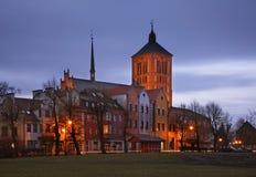 Church of St. Saint Catherine of Alexandria in Braniewo. Poland Royalty Free Stock Photos