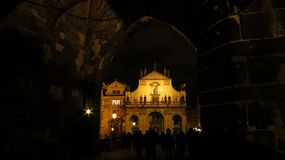 Church of St. Salvator. At night, Prague, Czech Republic Royalty Free Stock Photography