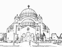Church St.Sava Stock Image
