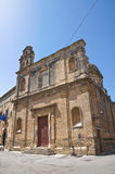 Church of St. Sebastiano. Francavilla Fontana. Puglia. Italy. Royalty Free Stock Photography