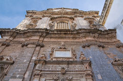 Church of St. Sebastiano. Galatone. Puglia. Italy. Royalty Free Stock Image
