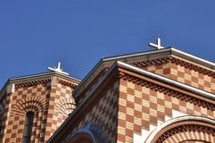 Church St. Simeon Mirotochivi roof. Orthodox Church St. Simeon Mirotochivi in Chicago. Crkva Sveti Simeon MIrotocivi Chicago Royalty Free Stock Photo