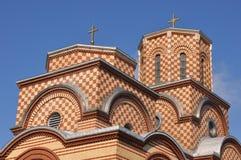 Church St. Simeon Mirotochivi roof view. Orthodox Church St. Simeon Mirotochivi in Chicago. Crkva Sveti Simeon MIrotocivi Chicago Stock Photography
