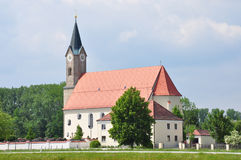 Church St. Simon and Judas Thadd�us in Moos (Kurzenisarhofen), Bavaria Royalty Free Stock Photo