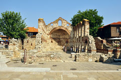 The church St. Sofia. NESSEBAR, BULGARIA - JULY, 16:The church St. Sofia on July, 16 2012 in Nessebar, Bulgaria. The church was built at the end of 5th century Stock Photo