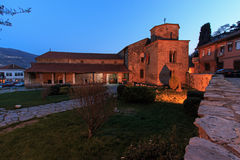 Church of St Sophia at dusk, Ohrid, Macedonia. Stock Image