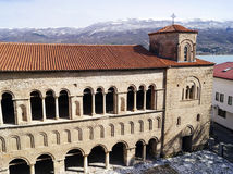 Church of St. Sophia in Ohrid. Church of St. Sophia is one of the main landmarks in Ohrid, Macedonia stock photography