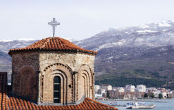 Church of St. Sophia in Ohrid. Is one of the main landmarks in Macedonia royalty free stock photos