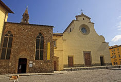 Church of St. Spirito in Florence Royalty Free Stock Image