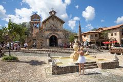 The Church of St Stanislaus. Altos de Chavón, La Romana, Dominican Republic: The Church of St Stanislaus. The Church of St Stanislaus was named after the patron Royalty Free Stock Images