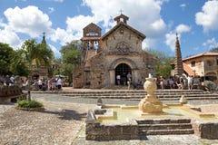 The Church of St Stanislaus. Altos de Chavón, La Romana, Dominican Republic: The Church of St Stanislaus. The Church of St Stanislaus was named after the patron Stock Photos