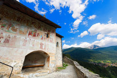 Church of St. Stephen - Carisolo Trentino Italy. Ancient mountain church of Santo Stefano (St. Stephen) in Carisolo, Val Rendena, Trento, Italy Stock Photography