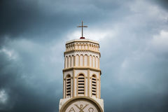 The Church ST. TERESA in Lao. Traveling Church in loa Asia Stock Image