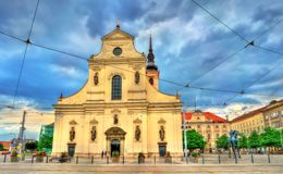 Church of St. Thomas in Brno, Czech Republic. Church of St. Thomas in Brno - Moravia, Czech Republic Royalty Free Stock Image