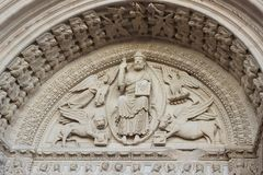 Church of St. Trophime facade Decoration Details in Arles, Prove. Nce, France Royalty Free Stock Images