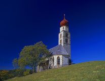The church St. Valentin at the Schlern mountain aerea Stock Images