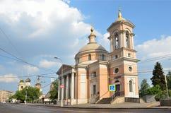 The Church of St. Varvara. Street Varvarka. Moscow, Russia Royalty Free Stock Photography