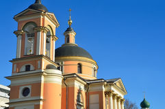 The Church of St. Varvara. Street Varvarka. Moscow, Russia Stock Photography
