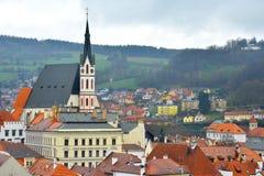 Church of St. Vitus. Cesky Krumlov, Czech Republic Royalty Free Stock Image