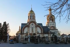 Russia, Sochi, 25, January, 2015: The Church of St. Vladimir. The Church of St. Vladimir, Russia, Sochi. Sochi in summer royalty free stock photography