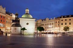 Church of St. Wojciech in Krakow at Night Royalty Free Stock Image