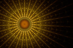 Church stained glass. Church top stained glass, rendered fractal image Stock Illustration