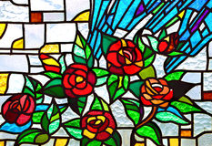 Church stained glass royalty free stock photography