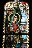 Church stained glass art Royalty Free Stock Image