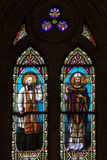 Church stained glass II. Stained glass with two saints image, Cathedral of Lujan, Argentina Royalty Free Stock Photos