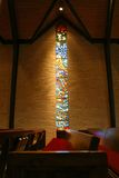 Church stained glass window Stock Photo