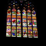 Church stained glass window - Easter Stock Photos royalty free stock image