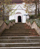 Church stairs. Stairs of Church of St. Simon and Judy, Tynec nad Sazavou, Czech republic Royalty Free Stock Photography