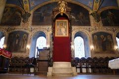 Church in Stara Zagora. Interior of an orthodox church in Stara Zagora Bulgaria Stock Image