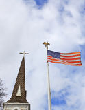 Church State Steeple Flag Stock Photos