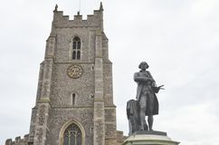 Church and statue Stock Photography