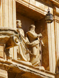 Church Statues. Church of Saint Peter and Saint Paul Granada Royalty Free Stock Images
